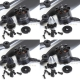2 Pair EMAX MT2216 KV810 CW CCW Brushless Motor (4 pcs) plus Props 8 pcs Combo