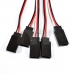 10 pcs 250mm Servo Extension Lead Wire Cable Cord For Futaba JR Male To Female