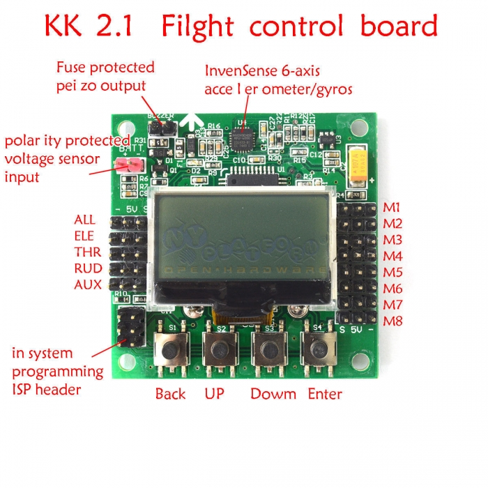 kk2 1 5 mini lcd flight control board 6050mpu 644pa multirotor kk2 kk2 1 rh nyplatform com writing keyboard app writing keyboard app