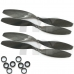 2 Pair 14 x 4.7 slow fly Carbon Fiber Propeller Prop CW CCW 1447 FOR DJI