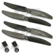 2 Pair 5030 5x3 Carbon Fiber CW/CCW Prop Propeller for Mini QAV250 RC Quadcopter