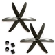 "2-Pair 5x3"" 5030 Carbon Fiber 3-Blade Propeller Prop CW/CCW for RC Mini Quadcopt"