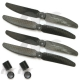 2 Pair 6030 6x3 Carbon Fiber CW/CCW Prop Propeller for Mini QAV250 RC Quadcopter