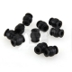 10 x ATG AV Anti Vibration Ball High Elastic Rubber Dual-head Black 55g