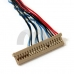 Universal LVDS Cable DF14-20P-D6 1ch 6bit 1.25mm Pitch For 13.3/14.1/15″ Monitor