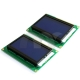 2 Pcs12864 Graphic LCD Display Module 128x64 Dots Blue Color Backlight