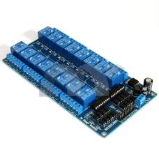 16-Channel 12V Relay Module Coupling Optocoupler High Trigger For MCU Arduino