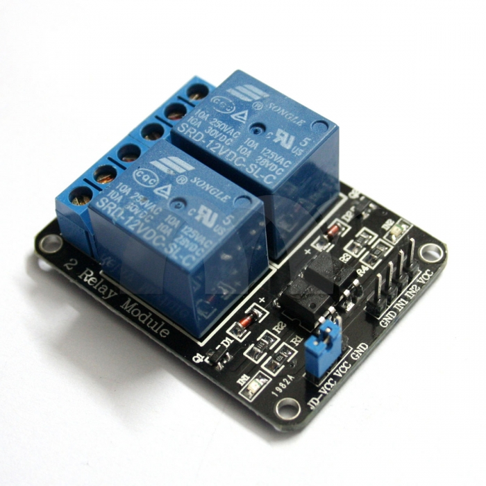 2-Channel 12V Relay Module With Optocoupler For Arduino DSP