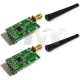 2x Wireless RF Transceiver Module 433Mhz CC1101 RF1101SE matched with Antenna