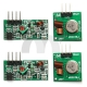 2 Sets 315Mhz RF Transmitter Module and Receiver Link Kit for Arduino ARM MCU WL