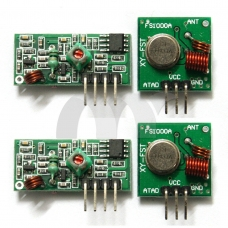2 Sets 433Mhz RF Transmitter Module and Receiver Link Kit for Arduino ARM MCU WL