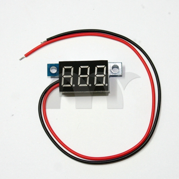 Digital Panel Meter 9v 3 5 : Pcs mini dc v wire voltmeter yellow led display