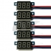 5 PCS Mini DC 0-99V 3-Wire Voltmeter Yellow LED Display Digital Panel Meter